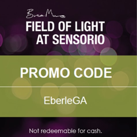 Field of Light at Sensorio - Promo Code for General Admission Tickets: EBERLEGA