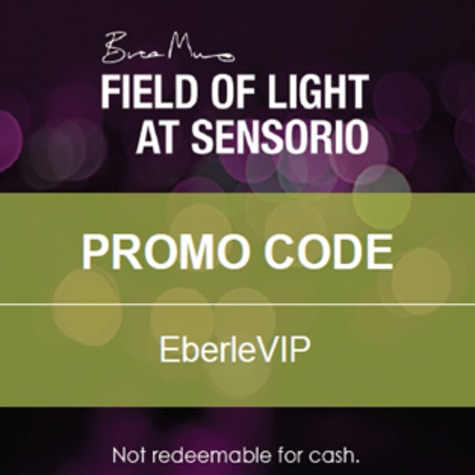 Field of Light at Sensorio - Promo Code for VIP Tickets: EBERLEVIP